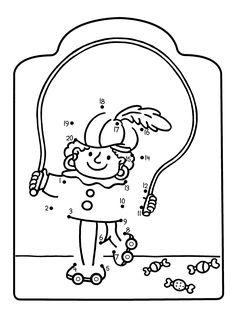 Cijferkleurplaat Piet