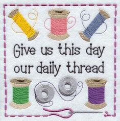 Machine Embroidery Patterns Machine Embroidery Designs at Embroidery Library! - New This Week My Sewing Room, Sewing Art, Sewing Crafts, Sewing Projects, Machine Embroidery Patterns, Embroidery Applique, Cross Stitch Embroidery, Quilt Patterns, Sewing Humor