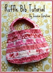 """I think this would be a great way to """"repurpose"""" my first's old stained bibs for number two. Good idea."""