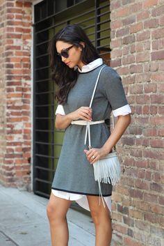 Britt+Whit: Layered Shirt Dress