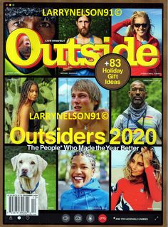 OUTSIDE MAGAZINE DECEMBER 2020 GIFT GUIDE OUTSIDERS MABEL LEAH THOMAS MICHAEL CA Outside Magazine, Gift Guide, Magazines, The Outsiders, December, Christian, Movie Posters, Gifts, Ebay