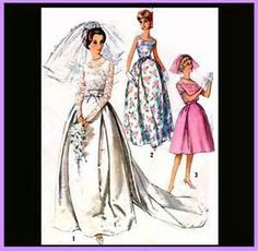 Simplicity 5343  Size 12:  Juniors and Misses Wedding Dress.    Vintage 1960's Sewing Pattern by PeruOrchid on Etsy