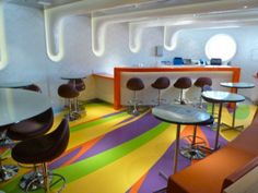 Lounge Furniture - countertop/hightop/bar with seating Disney Cruises teen lounge Vibe