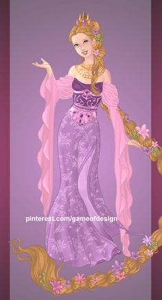 Queen Rapunzel, made on Azalea's Goddess Maker. [9/? Princesses to Queens]