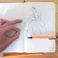 Today I feel romantic....👗💎#cinderella #cenerentola #disney #disneyart #sketchbook #paper #pen #pencil ##instaartist #graphic #illustrations #artwork #freak #project #draw  #black #studying #artshub #artstalent #artistuniversity #visual_konnect #artistic_unity_ #supportart #artistic_plus24 #arts_secret