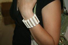 Ivory & Crystal Studded Bracelet