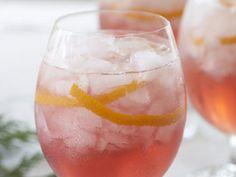 Poinsettia Cocktail (vodka, champagne, cranberry)