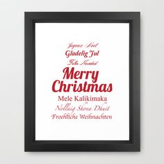 Merry Christmas Many Times Over 2 Framed Art Print by Maureen Bates Photography. Choose one of eight frame styles. Starting at $36