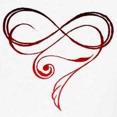Heart shaped Infinity symbol #love #romantic #swirl Mehr