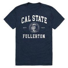 Csuf California State University, Fullerton Titans NCAA Seal Tee T-Shirt California State University Fullerton, California High School, College Shirts, School Spirit, Cotton Tee, Cool T Shirts, Seal, Mens Tops, Free Shipping