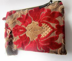 HANDMADE BY ME!!!!!  Carpet Bag Valentine Sweetheart Red and Gold Cut by YogaBeeVintage, $40.00