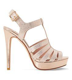 DUNE Marbaya Metallic Platform Sandals. #dune #shoes #sandals