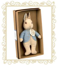$34.95 - Ideal for snuggling, the Naturally Better Peter Rabbit comes packaged in an elegant recycled gift box. Made using 100% cotton.