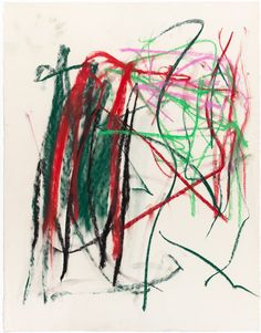 Pastel by Joan Mitchell, Pastel on paper, 1991
