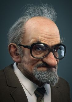 Grandpa KarlEvert, Dick Adolfsson on ArtStation at https://www.artstation.com/artwork/grandpa-karlevert