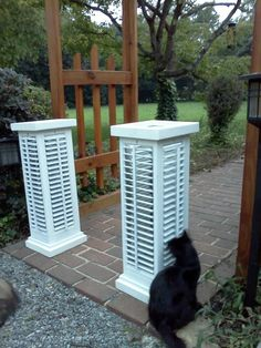 upcycled shutters turned into lanterns