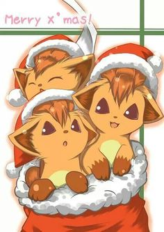 Pokémon Vulpix Merry Christmsas art <3