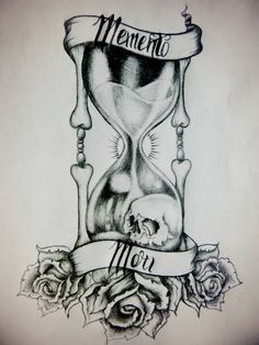 memento mori tattoo - Google Search Do a full color with momento mori replaced by 'all men must die'