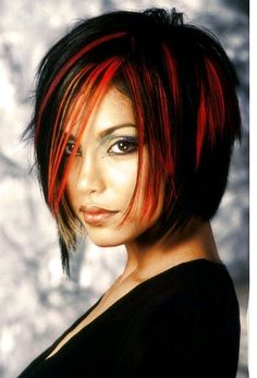 I lile this style but would like blue and/or purple highlights