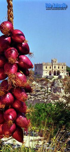 Italy ~ CIPOLLA ROSSA DI TROPEA , province of Vibo valentia , Calabria region Italy