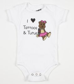 Tattoos & Tutus | Cam's Closet Clothing  #tattoos #tutus #camscloset #cuteclothes #onesies $16.99