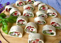 Kolorowe mini tortille - pyszna przekąska! - Blog z apetytem Party Buffet, Fresh Rolls, Sushi, Food And Drink, Mexican, Snacks, Ethnic Recipes, Blog, School