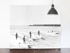 """Vintage Illustration, Surfers, Black and White Beach Wallpaper, Surfing photography - 144"""" x 92"""" by anewalldecor on Etsy https://www.etsy.com/ca/listing/218658568/vintage-illustration-surfers-black-and"""