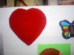How To Make A Heart Shaped Valentine's Day Magnet: A Craft Made Out of Plastic Canvas Mesh By SweetiePie