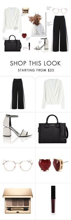 """""""Untitled #147"""" by berryadoreyou on Polyvore featuring Peter Pilotto, Diane Von Furstenberg, Alexander Wang, Karl Lagerfeld, RetroSuperFuture, Betsey Johnson, Clarins and Inglot"""