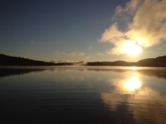 Sunrise over Little Hawk Lake,  Algonquin Highlands, Ontario, Canada.