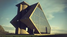 Concept Office Building 3dsmax+Vray