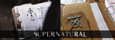 Tutorial for making a replica of John Winchester's diary. This is so nifty! If I made one I'd try to theme it to look like Dean and Sam added onto it, with help from Cas maybe. Gotta stick all the angel stuff in there too. Supernatural Cosplay, Supernatural Fandom, Supernatural Impala, John Winchester Journal, Nerd Crafts, Demon Hunter, Cosplay Diy, Geek Out, Superwholock