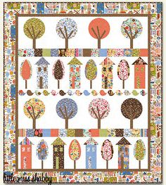 Urban Village - a Free Quilt Pattern....doncha love the trees and houses? I do!