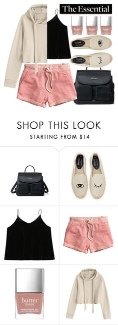"""Summer night"" by jiabao-krohn ❤ liked on Polyvore featuring Soludos, H&M and Butter London"