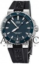 Oris 73376534155RS Watch Aquis Date Mens - Blue Dial