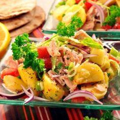 Salată de cartofi cu ton Poke Bowl, French Food, Potato Salad, Tacos, Easy Meals, Potatoes, Ethnic Recipes, Website, Healthy Diet Foods