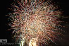 Fireworks #2 - Pinned by Mak Khalaf ISO100 127mm F11 7.2s Fine Art yellow500pxJapanbluefine artfireworkflowergreenlandscapelong exposureorangeskysnapsummer by fiat_lux