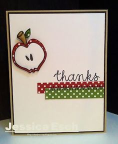 The Alley Way Stamps~ Thank you teacher card