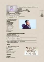 English worksheet: SONG - ROBBIE WILLIAMS - I LOVE MY LIFE