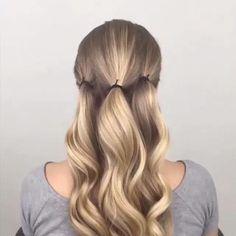 Frisyrer för långt hår Söta snygga frisyrer Snabba enkla uppdateringar ... #Enklahåruppdateringar #hairmakeup