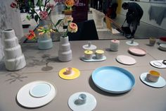"""Courtesy of: www.designboom.com """"Colur Porcelain"""" the extensive range of pieces which include candle holders teacups vases and plates by Sho..."""