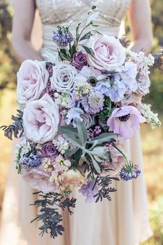 Stunning Lavender and Blush Lush Wedding Flower Ideas