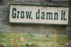 Cute wood sign idea for a garden
