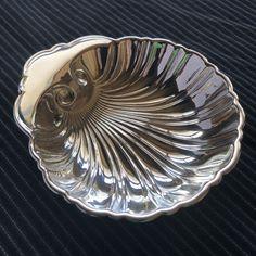 Vintage Birks Figural Sterling Silver Shell Bonbon Pin Ring Jewelry Tray Dish #Birks