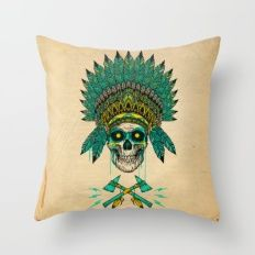 CHIEF SPIRIT Throw Pillow