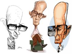 Caricatura de Carlos Drummond de Andrade