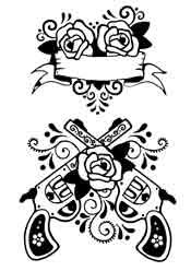 Guns And Roses Tattoo Designs