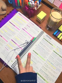 Studyblr notes, desk stationery, school goals, note taking tips, dollar tre School Goals, Life Hacks For School, School Study Tips, Pretty Notes, Good Notes, Study Organization, School Organization Notes, Nursing Organization, University Organization