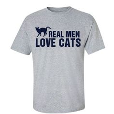 43f1423b2 Real Men Love Cats: Custom Unisex Basic Gildan Ultra Cotton Crew Neck T- Shirt