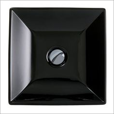 Håndvask Black Square 36 til placering på bordplade. Made in Italy